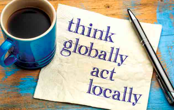 Think globally act locally ChapmanCG